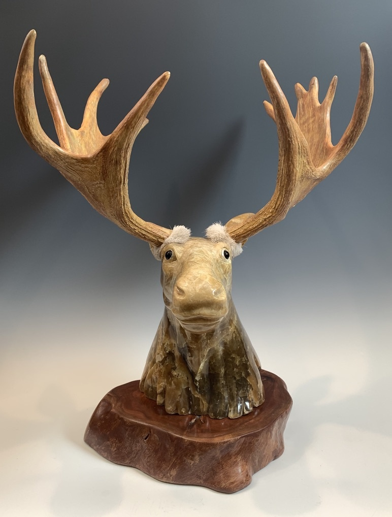 - Moose - Marble Sculpture #393