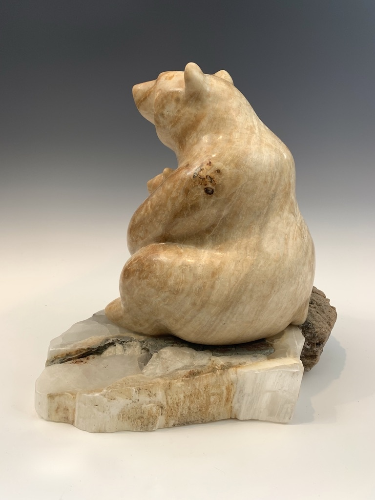 Mother Bear and Cub - Marble Sculpture #395