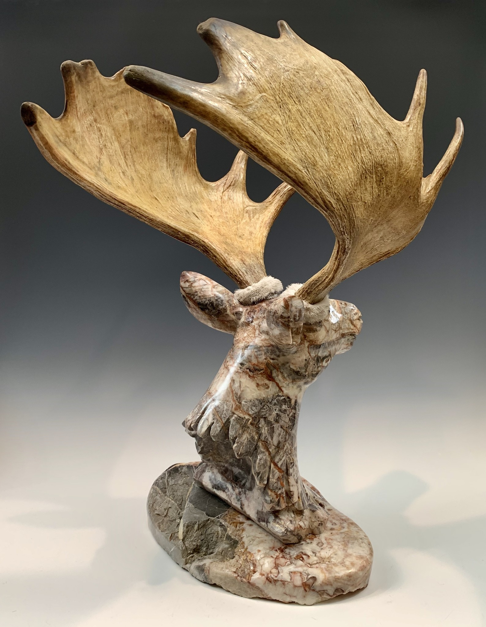 Moose - Marble Sculpture #402 SOLD