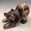 Pouncing Bear - Marble Sculpture #403