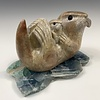 Sea Otter and Pup Soapstone Sculpture #410