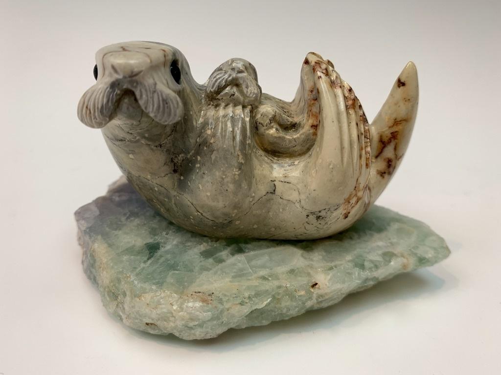 - Gretchen and Gabi - Soapstone Sea Otter #434