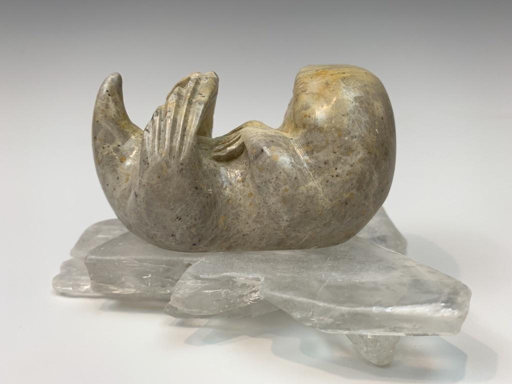 Wesley - Soapstone Sea Otter #430