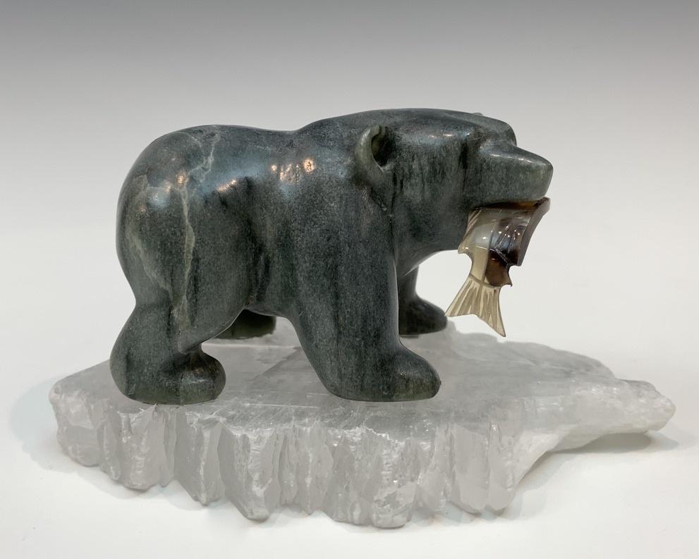 Satchi - Soapstone Bear #439