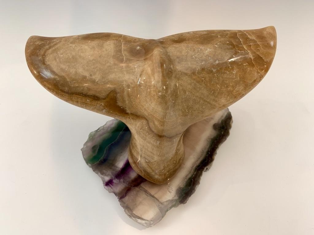 -Whale Fluke - Marble Sculpture #452