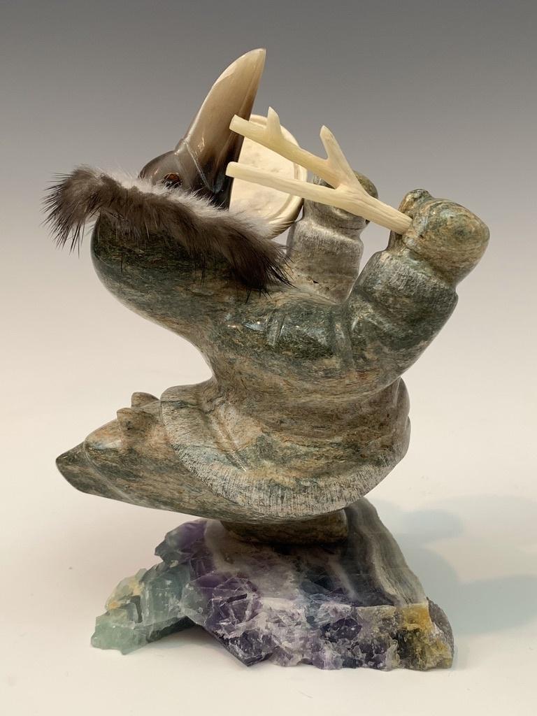 Raven and Bear Dancing Shaman #442-SOLD