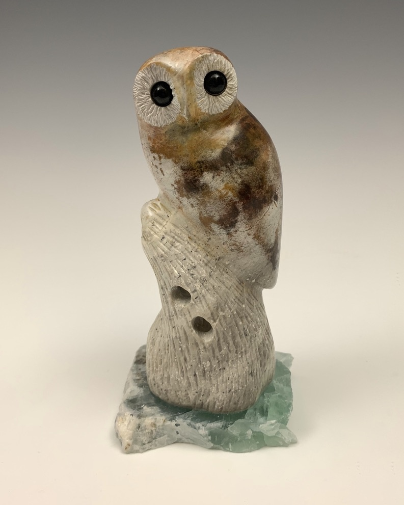 Oshi - The Soapstone Owl #448