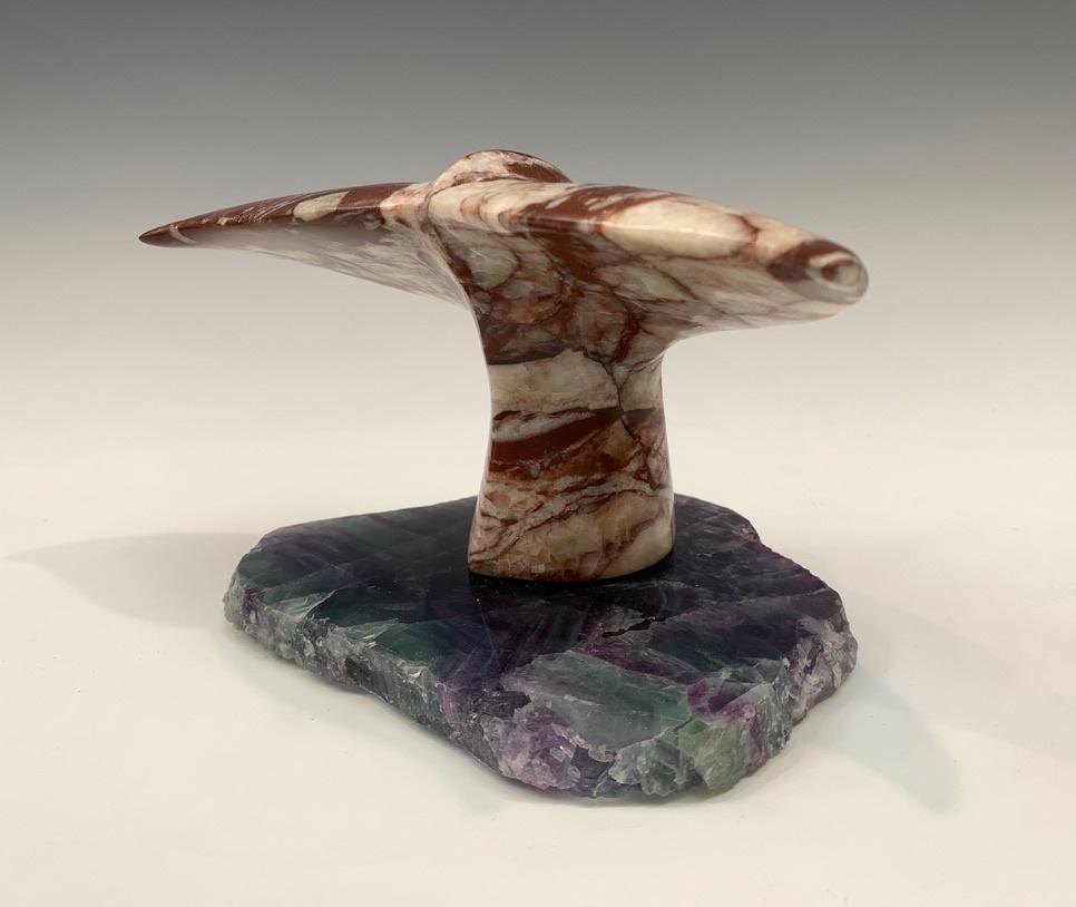 Whale Fluke - Marble Sculpture #450