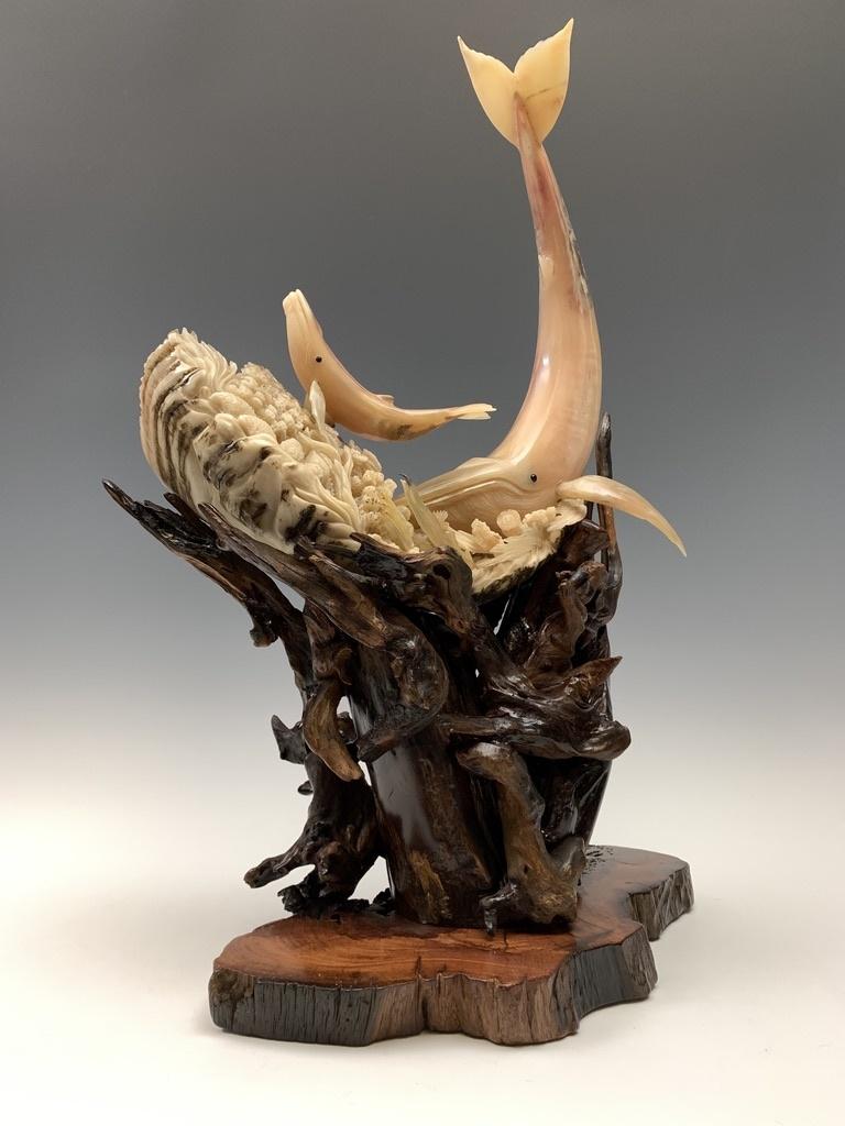 First Breath - Sheep Horn Sculpture #456