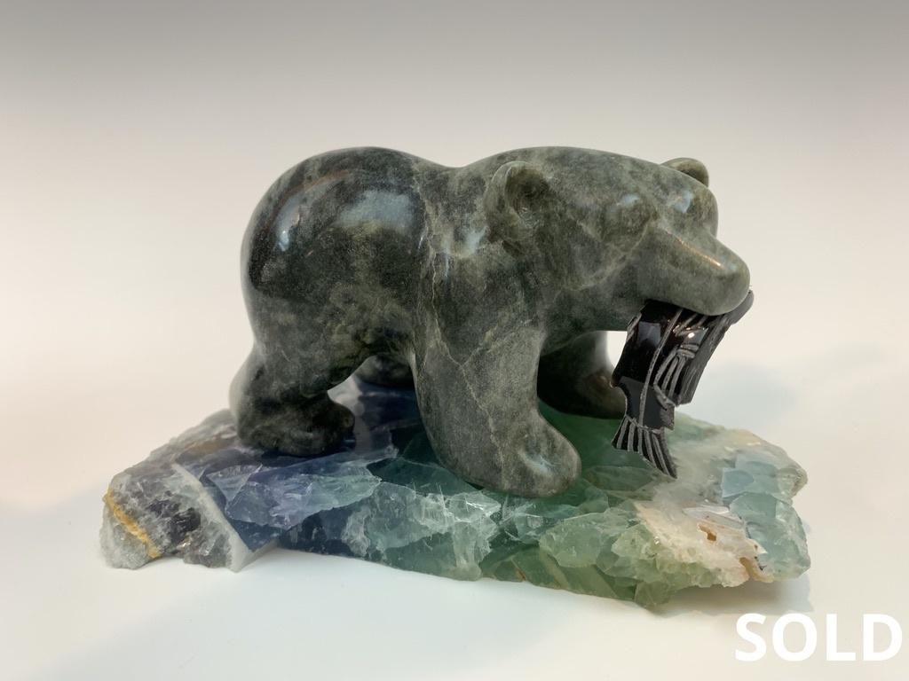 - Theo - Soapstone Bear #438