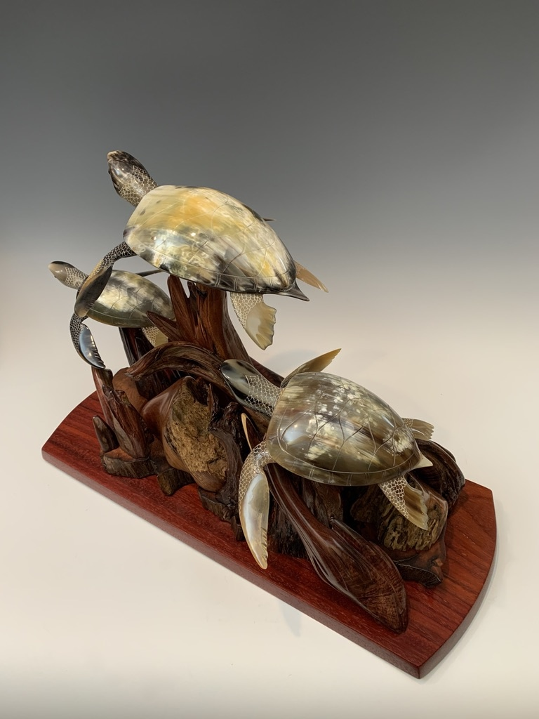Swimming Turtle Family of Three #461
