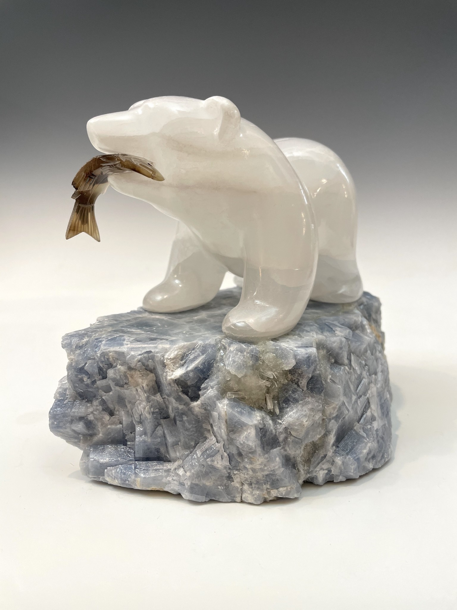 Selenite Bear #470