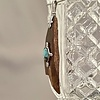 Fossil Ivory Artifact and Turquoise Pendant #516-SOLD