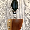 Fossil Walrus Ivory and AK Jade Pendant #513