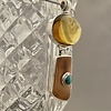 Fossil Ivory, Amber, and Turquoise Pendant #518