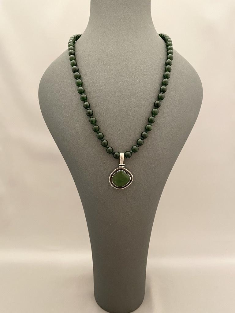 Alaskan Jade Beaded Necklace #257-SOLD