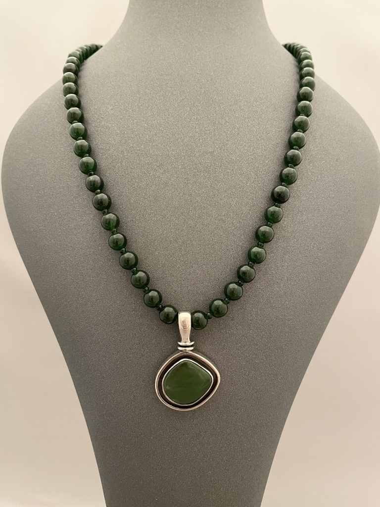 Alaskan Jade Beaded Necklace #257