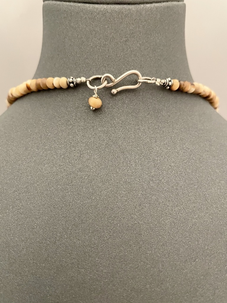 Fossil Walrus Ivory Bead Necklace #266