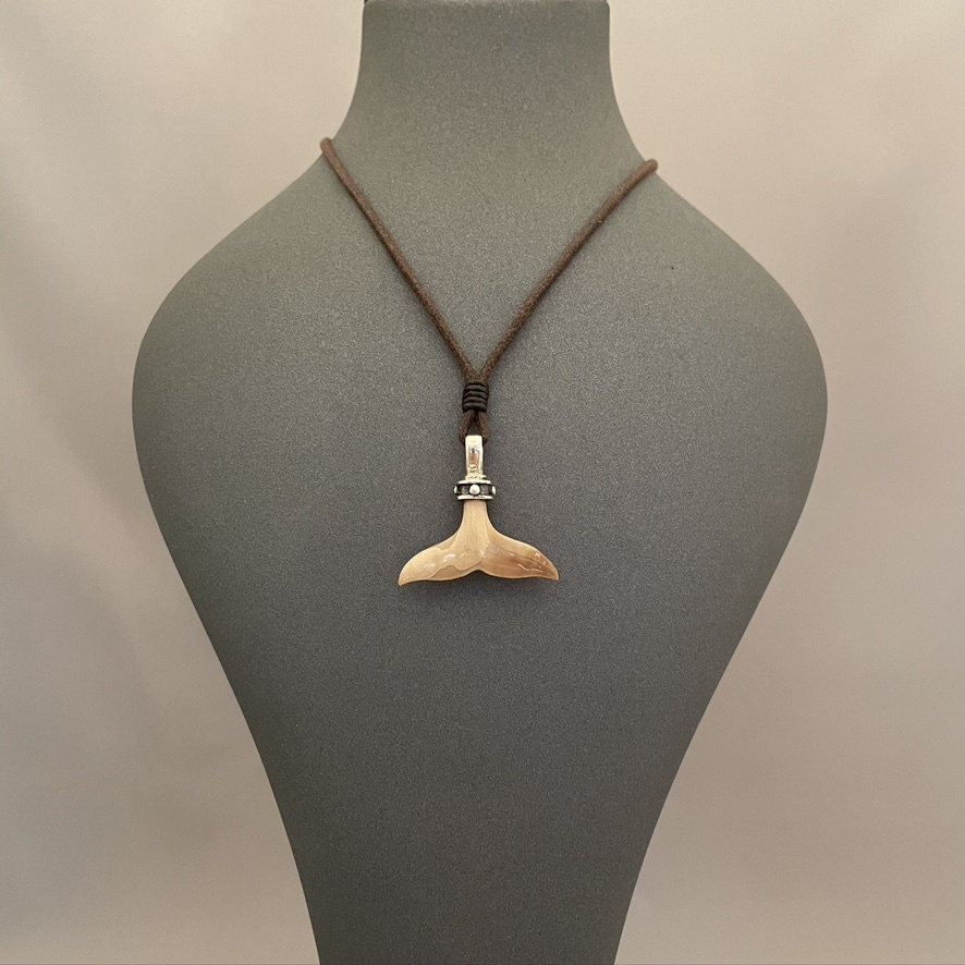 Fossil Ivory Whale Tail #528-SOLD
