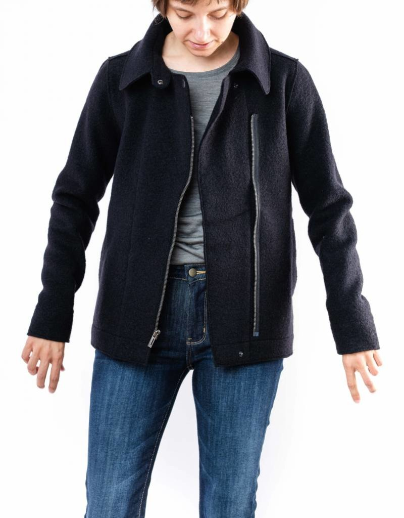 NAU BOILED WOOL MOTO JACKET