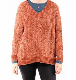 MYSTREE RIB HI-LO SWEATER