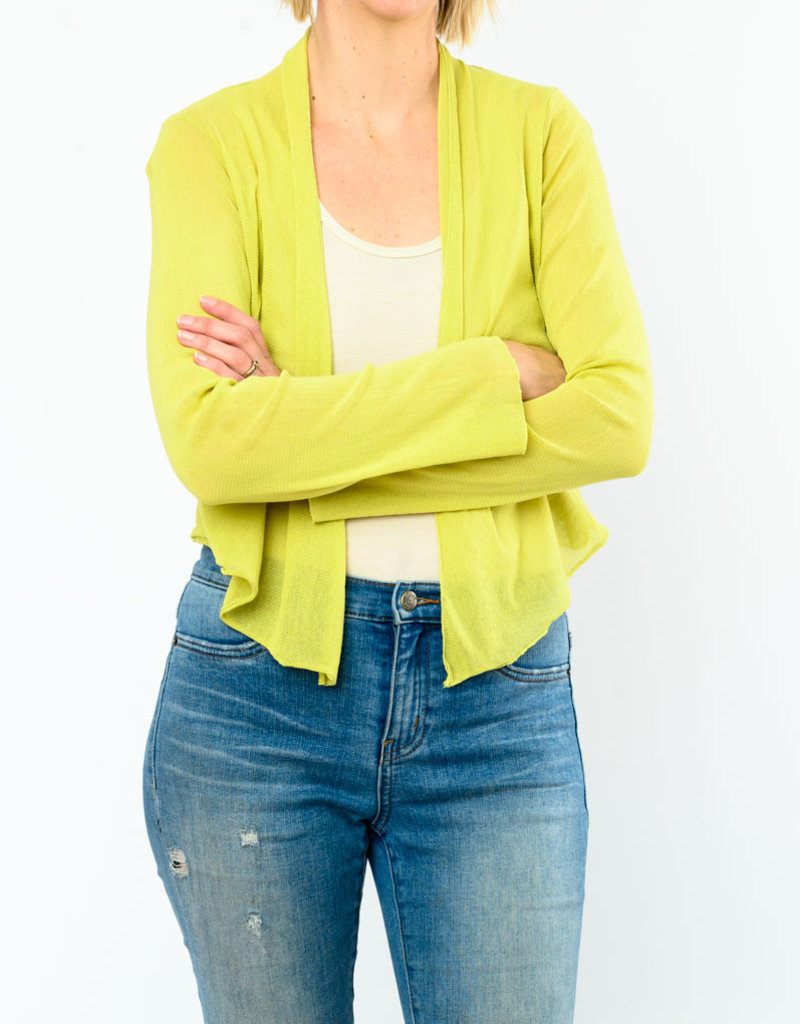 CUT LOOSE CROPPED TULLE CARDIGAN