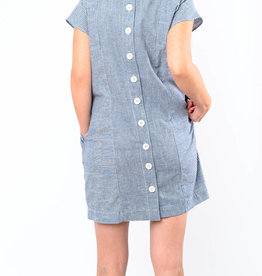 MOD-O-DOC BUTTON BACK SHIFT DRESS