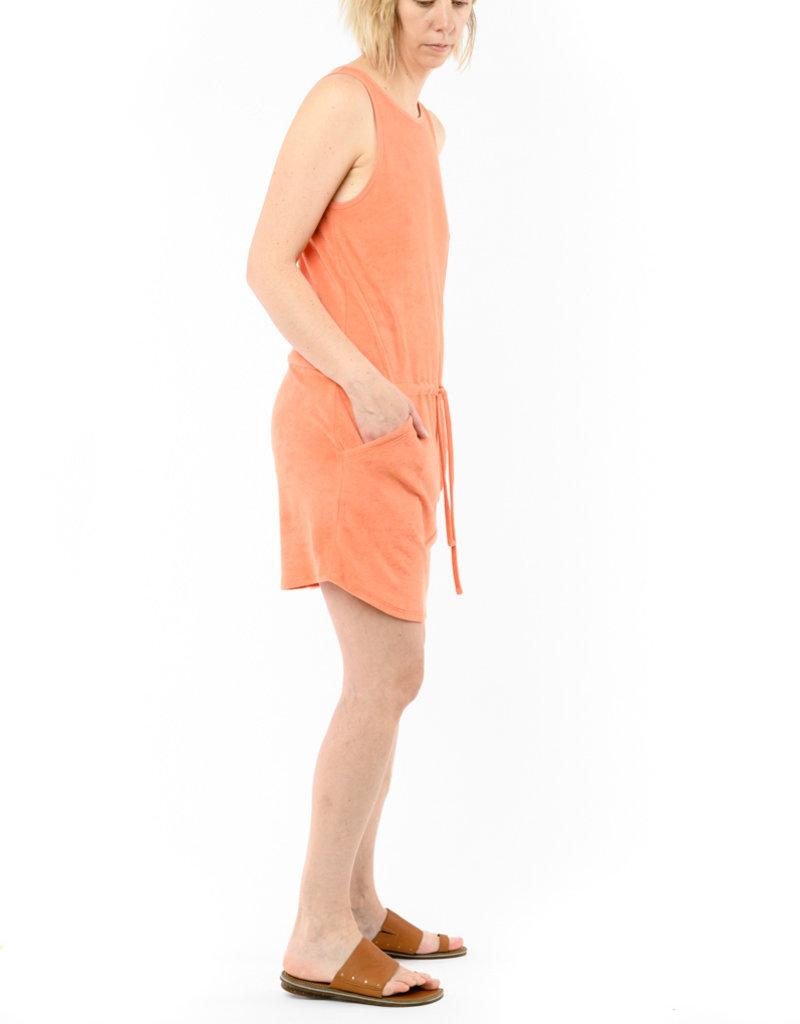 LILLA P TIE WAIST TERRY DRESS