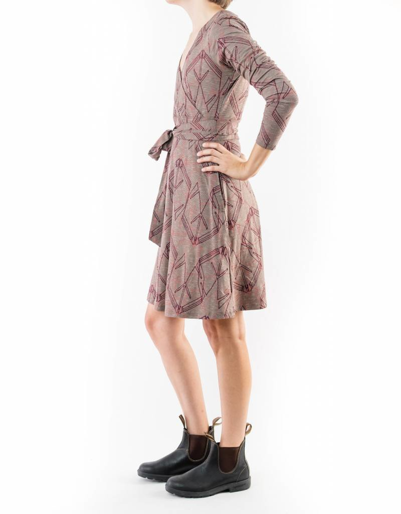 TOAD&CO CUE WRAP LONG SLEEVE DRESS