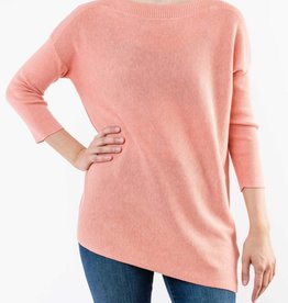 LILLA P RIBBED SLEEVE BOATNECK