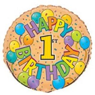 18 Happy 1st Birthday Foil Balloon
