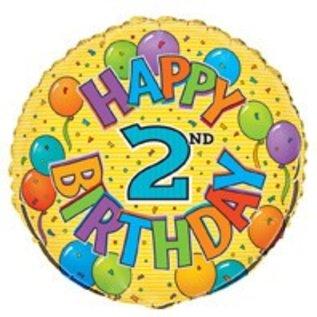 18 Happy 2nd Birthday Foil Balloon