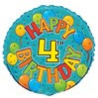 18 Happy 4th Birthday Foil Balloon