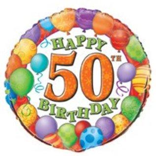 18 Happy 50th Birthday Foil Balloon