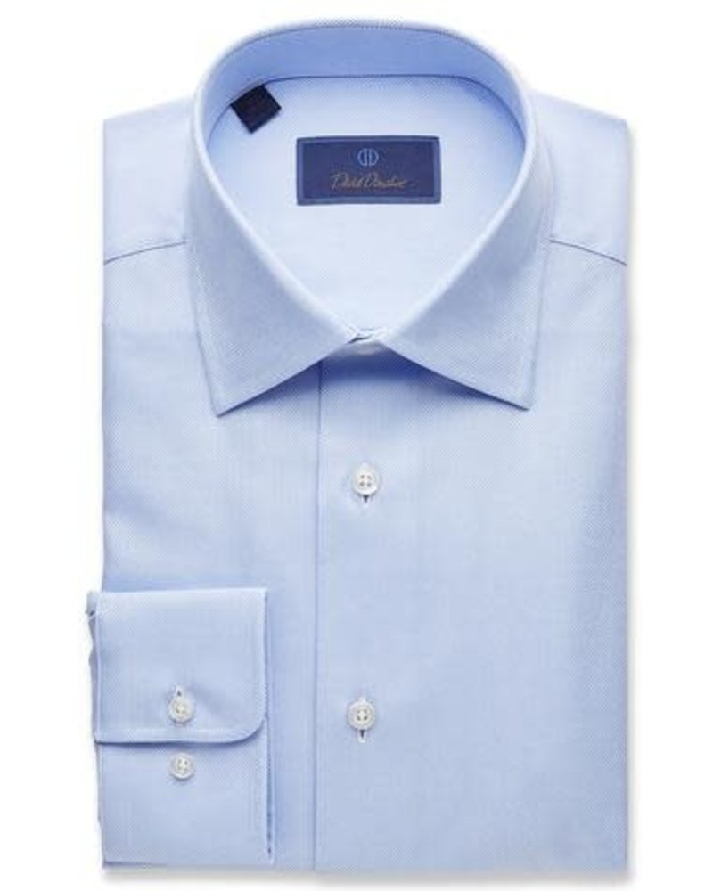 David Donahue David Donahue Solid Dress Shirt Trim Fit
