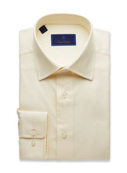 David Donahue David Donahue Solid Dress Shirt Reg**