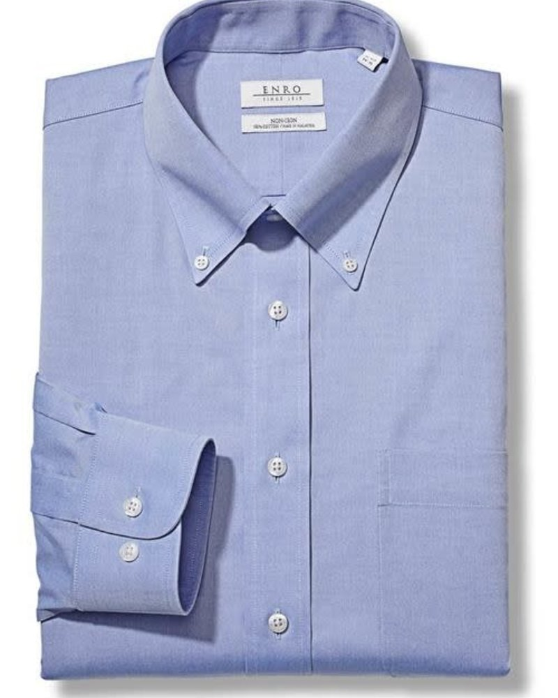 Enro Enro Solid Button Down Collar Dress Shirt**