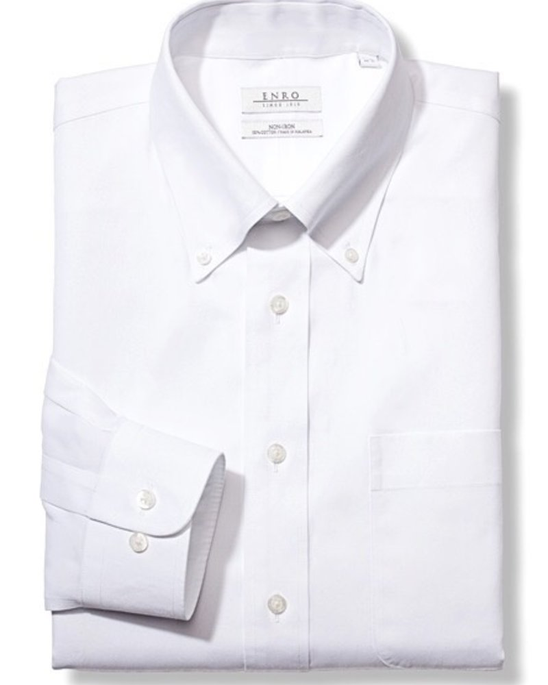 Enro Enro Wh Button Down Collar Reg Fit**
