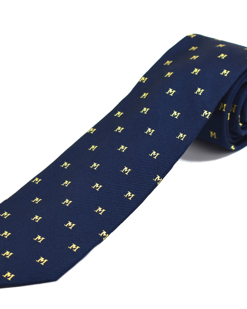 Private Stock Private stock ties - Navy with Maize Block M