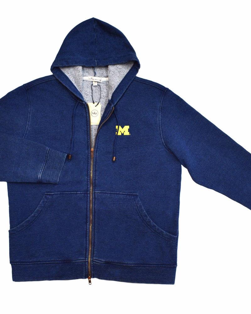 Peter Millar Peter Millar Mountainside Michigan Indigo Full Zip Hoodie