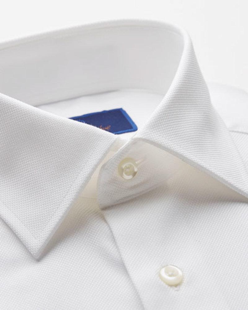 David Donahue David Donahue Solid White Dress Shirt Regular Fit