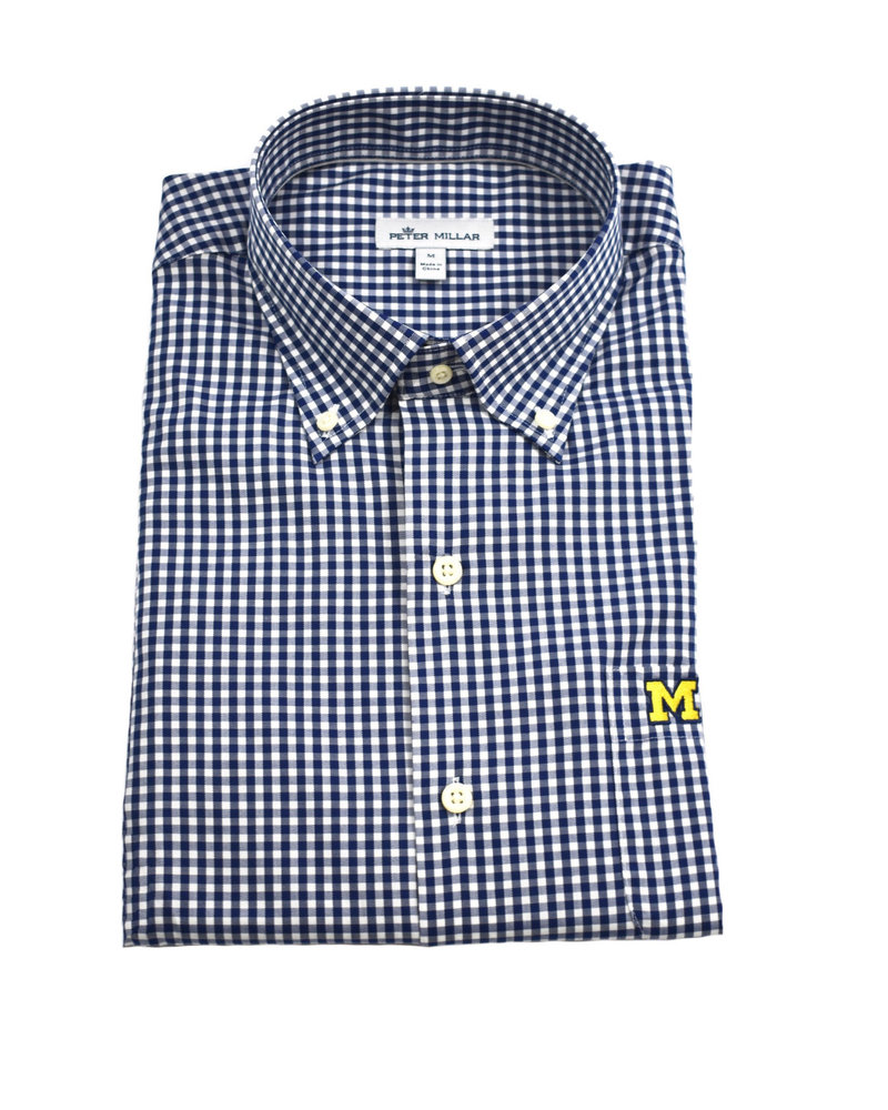 Peter Millar Peter Millar Block M Crown Soft Stretch BD Gingham