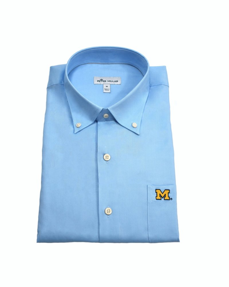 Peter Millar Peter Millar Block M Crown Soft Stretch BD Sport Shirt