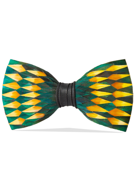 "Brackish Brackish Pre-Tied Feather Bow Tie ""Springfield"""