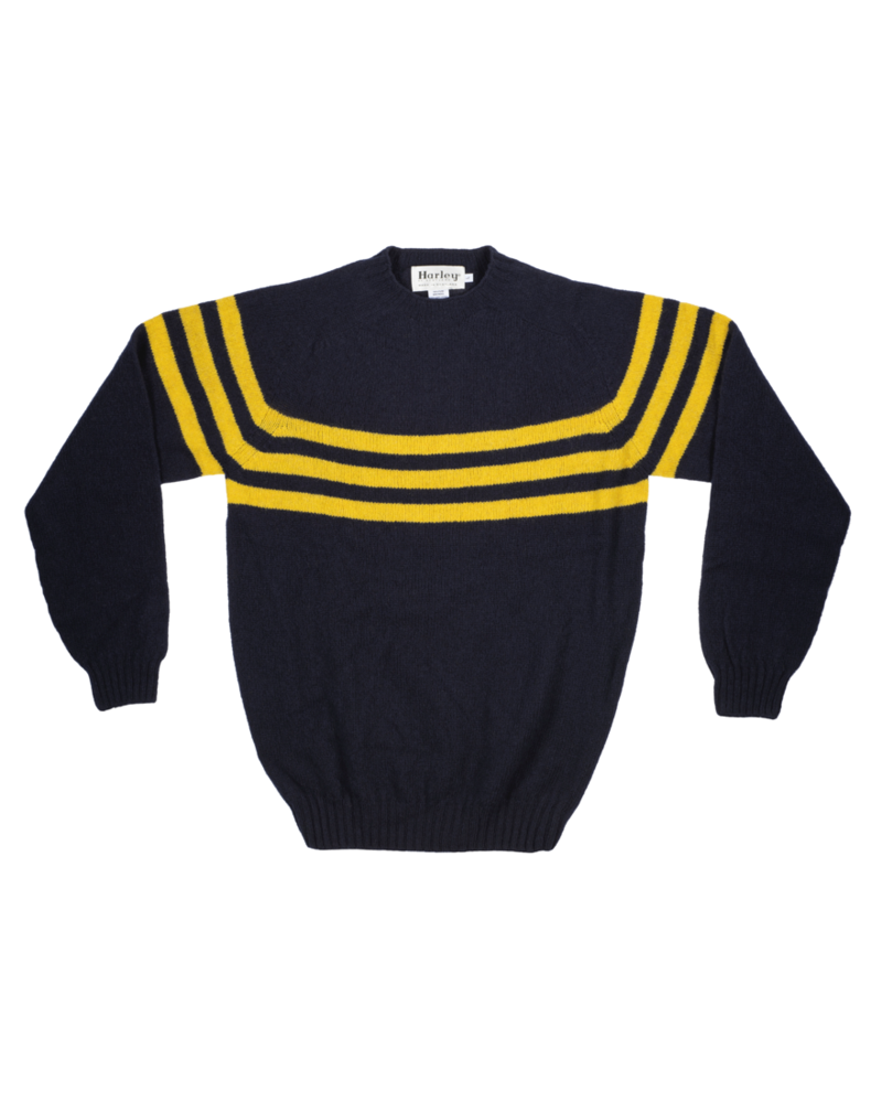 Harley Navy With Yellow Stripe Sweater