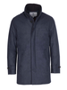 Norwegian Wool Norwegian Wool Stretch Wool Car Coat French Blue