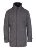 Norwegian Wool Norwegian Wool Car Coat Wool Cashmere Blend Grey Herringbone