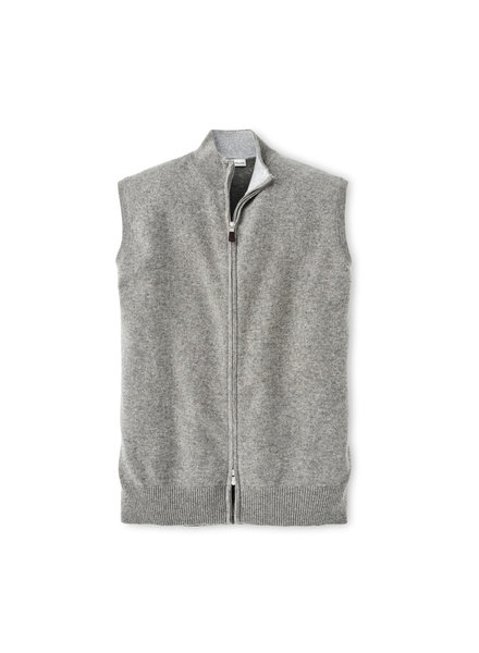 Peter Millar Peter Millar Crown Comfort Full Zip Brit Grey Cashmere Vest