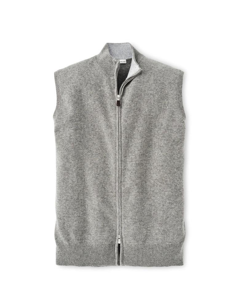 Peter Millar Peter Millar Crown Comfort Full Zip Brit Grey Cashmere Vest