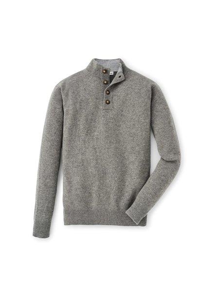 Peter Millar Peter Millar Crown Comfort Cashmere 1/4 Button Grey Sweater